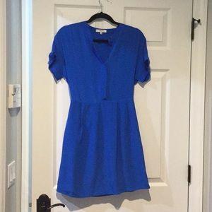 Blue shirt dress by Madewell